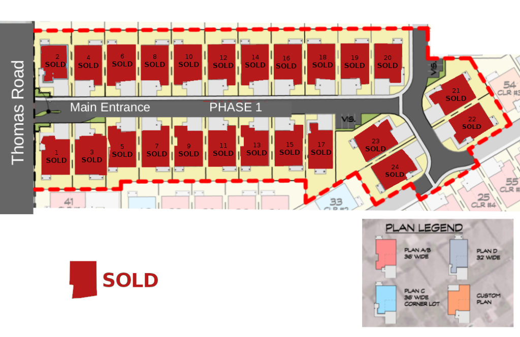 site map - phase1 - sold out